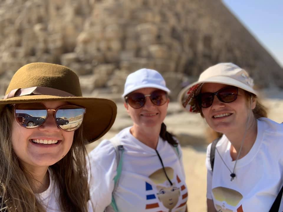 Traveling Abroad- Americans Ladies in Egypt